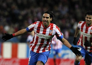 Falcao Diego Costa Atlético Madrid