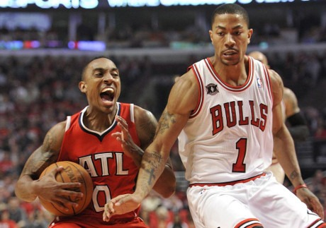 Jeff Teague e Derrick Rose