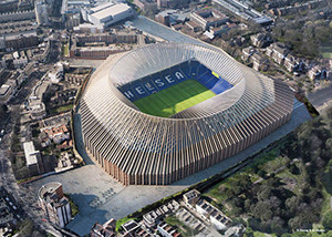 Protótipo do novo estádio do Chelsea FC