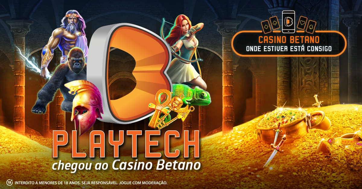 Slots Playtech no Casino Betano